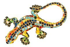 Souvenir colored lizard clay toy isolated Stock Photos