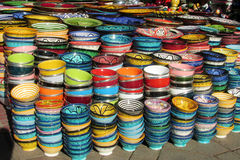 Souvenir colorful bowl Stock Photos