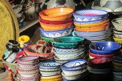 Souvenir colorful bowl Royalty Free Stock Image