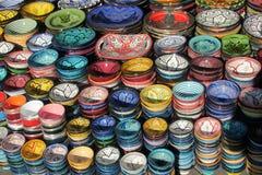 Souvenir colorful bowls Stock Photos