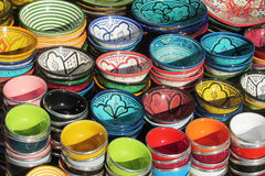 Souvenir colorful bowls Royalty Free Stock Images