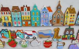 Souvenir colorful houses Stock Photos