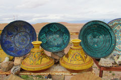 Souvenir colorful plates Stock Photo
