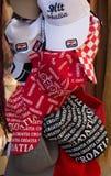 Souvenir coloured hats on sale, Dalmatia, Croatia. royalty free stock photos