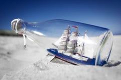 Souvenir conceptual image. Ship in a bottle Stock Photography