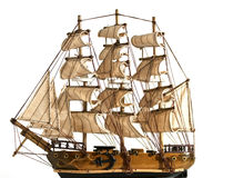 Souvenir copy of a sailing ship to sail Royalty Free Stock Image
