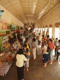 Souvenir corridor inside Shwezigon Pagoda, Bagan Stock Photos