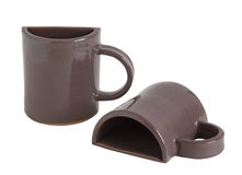 Souvenir cup. set. Clay cups for coffee. souvenir. set stock photo