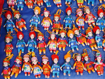 Souvenir. Cute and colorful local dolls keyring Royalty Free Stock Photography