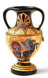 Souvenir Cypriot Hellenistic amphora. A reproduction of a Nikosthenic black figure amphora from the Hellenic period. The original was found on the  Cyprus. The Royalty Free Stock Photography