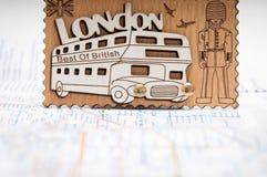Souvenir d'autobus de Londres Images stock