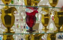 Souvenir de Florence, Italie Beaux plats, cruches et verres de frustalnaya Images libres de droits
