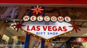 Souvenir de Las Vegas sur l'affichage à la boutique de cadeaux photographie stock