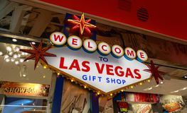 Souvenir de Las Vegas sur l'affichage à la boutique de cadeaux images stock