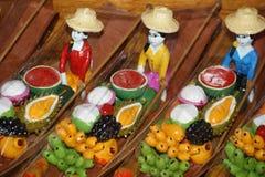 Souvenir de marché de flottement, Damnoen Saduak, Thaïlande Photographie stock