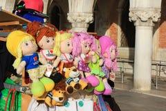Souvenir doll with inscription I love Venice Stock Photos