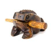 Souvenir en bois thaïlandais de grenouille Photographie stock libre de droits