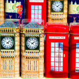 Souvenir            in england london obsolete    icon Royalty Free Stock Photography
