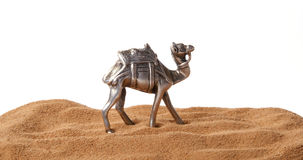 Souvenir figurine of a camel made of metal Royalty Free Stock Photography