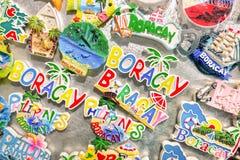 Souvenir fridge magnets of Boracay in Philippines Stock Image