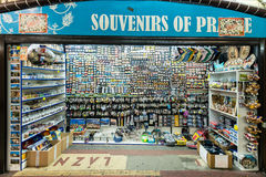 Souvenir and gift shops in Prague Stock Photography