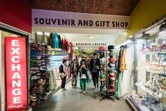 Souvenir and gift shops in Prague Stock Photos