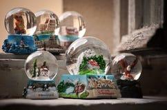 Souvenir glass balls Stock Image