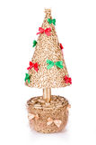 Souvenir gold Christmas tree Stock Images