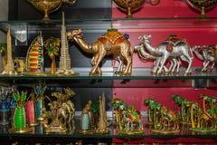 Souvenir goods in the arabian store. In Dubai Stock Image