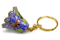 Souvenir hand bell-charm. Enamel royalty free stock image