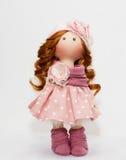 Souvenir handmade doll with natural hair Stock Photos