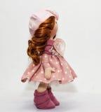 Souvenir handmade doll with natural hair Royalty Free Stock Photo