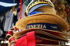 Souvenir hats, Venice Royalty Free Stock Photo