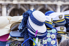 Souvenir  hats in  Venice,Italy Royalty Free Stock Photography