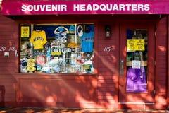 Souvenir Headquarters on Thames Street, Newport, RI. Royalty Free Stock Photos