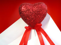 Souvenir heart in an envelope Stock Photo