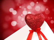 Souvenir heart in an envelope Royalty Free Stock Photo