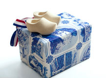 Souvenir from Holland. Wooden shoes-clogs, souvenir from holland Royalty Free Stock Photo