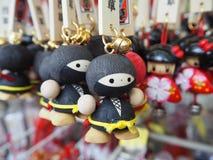 The souvenir key chain, ninja shape. Royalty Free Stock Photography