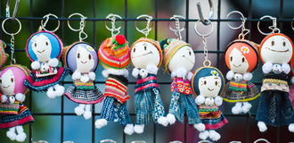Souvenir Key Holder Dolls Stock Image