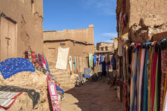 Souvenir in Ksar of Ait-Ben-Haddou, Moroccco. The ksar, a group of earthen buildings surrounded by high walls, is a traditional pre-Saharan habitat. The houses stock photos