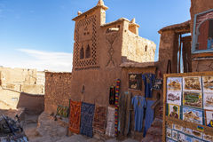 Souvenir in Ksar of Ait-Ben-Haddou, Moroccco. The ksar, a group of earthen buildings surrounded by high walls, is a traditional pre-Saharan habitat. The houses royalty free stock photo