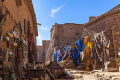 Souvenir in Ksar of Ait-Ben-Haddou, Moroccco. The ksar, a group of earthen buildings surrounded by high walls, is a traditional pre-Saharan habitat. The houses Stock Photography