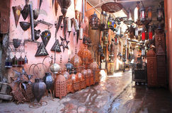 Souvenir lamp shop in the medina Stock Image