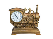 Souvenir locomotive. desktop clock Stock Images