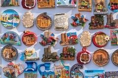 Souvenir magnetic badges, Baku city, Azerbaijan