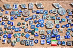 Souvenir magnets with pictures and symbols of Iran and ancient Persia Royalty Free Stock Photography