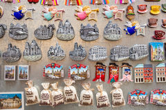 Souvenir magnets for sale in Lviv, Ukraine Royalty Free Stock Image
