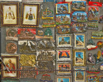Souvenir magnets in St. Petersburg Stock Image