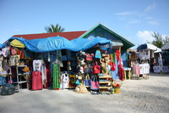 Souvenir Market at Coco Cay. Colorful souvenir market at Coco Cay, Bahamas Royalty Free Stock Photography